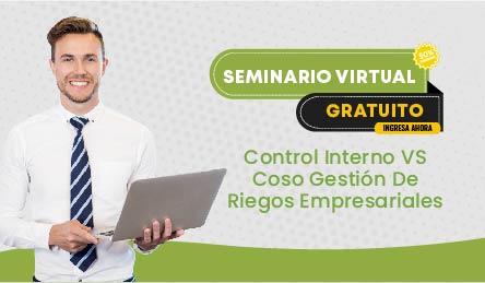 Seminario Virtual Gratuito: Control Interno VS Coso Gestión De Riegos Empresariales
