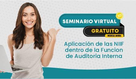 Seminario Virtual Gratuito: Aplicación de las NIIF dentro de la Funcion de Auditoria Interna
