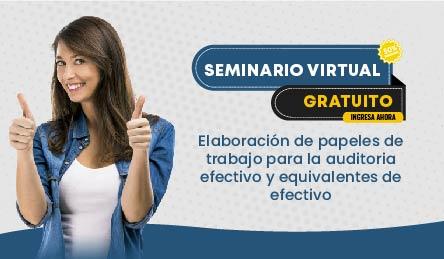Seminario Gratuito: Elaboración de papeles de trabajo para la auditoria efectivo y equivalentes de efectivo